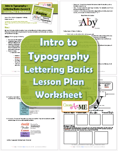 Typography Lesson Plan and Worksheet