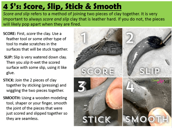 Slip Score Stick Smooth -4 S's of Joining Clay