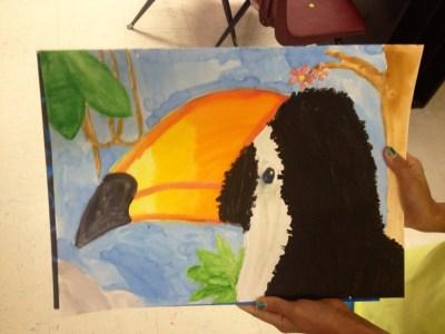 Toucan Watercolor Resit Paintings