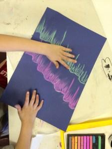Aurora Borealis Pastel Drawing