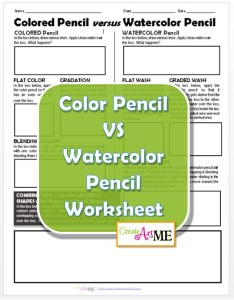 Colored Pencil versus Watercolor Pencil Worksheet