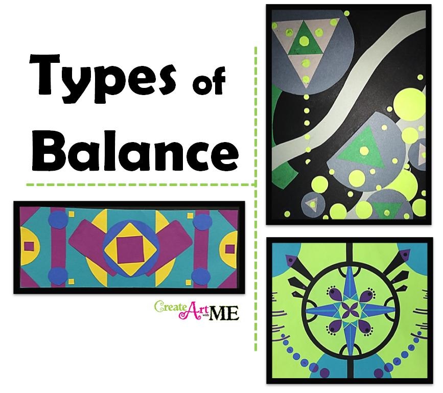 Types of Balance Art Lesson - Create Art with ME