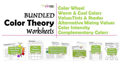 Bundle Color Theory Worksheets