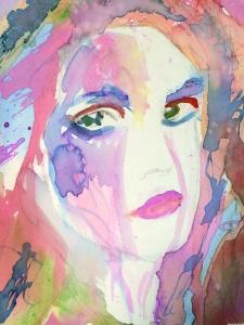 Watercolor Pouring Portrait (3)