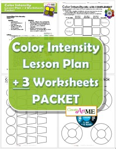 Color Intensity Lesson Plan & 3 Worksheets PACKET