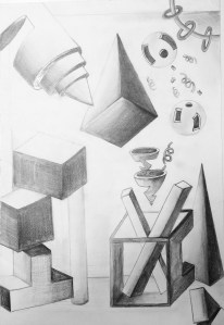 slice diced forms Drawing