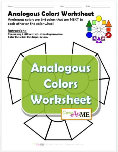 Analogous Colors Worksheet