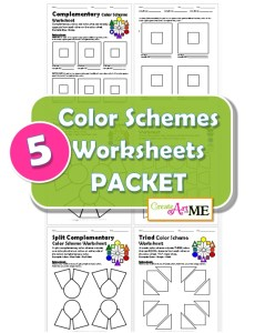 Color Schemes Worksheets PACKET BUNDLE