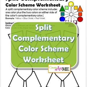 Split Complementary Color Scheme Worksheet