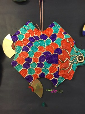 Color Scheme Foil Cardboard Relief Sculpture