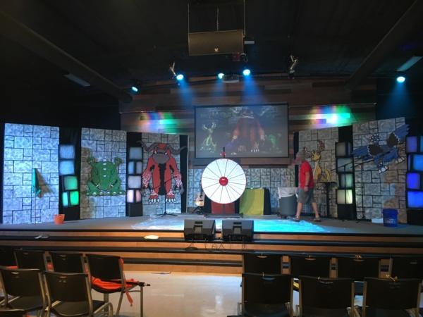 Faux Stone Wall Insulation Foam Sheet church stage design