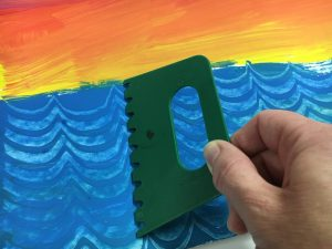 Eric Carle Painted Paper Sailboat art lesson