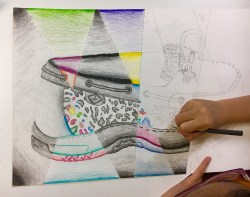 Abstract Shoe Drawing