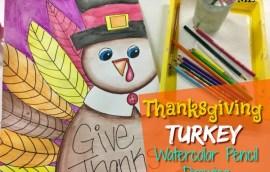 Turkey Watercolor Pencil