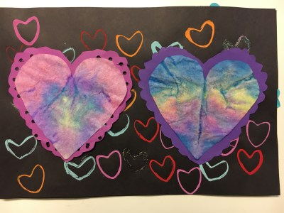 Coffee Filter Heart and Paper Towel Roll Printed Heart