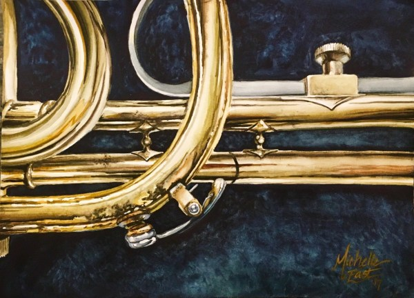 Breathe In Me Music Instrument Watercolor painting