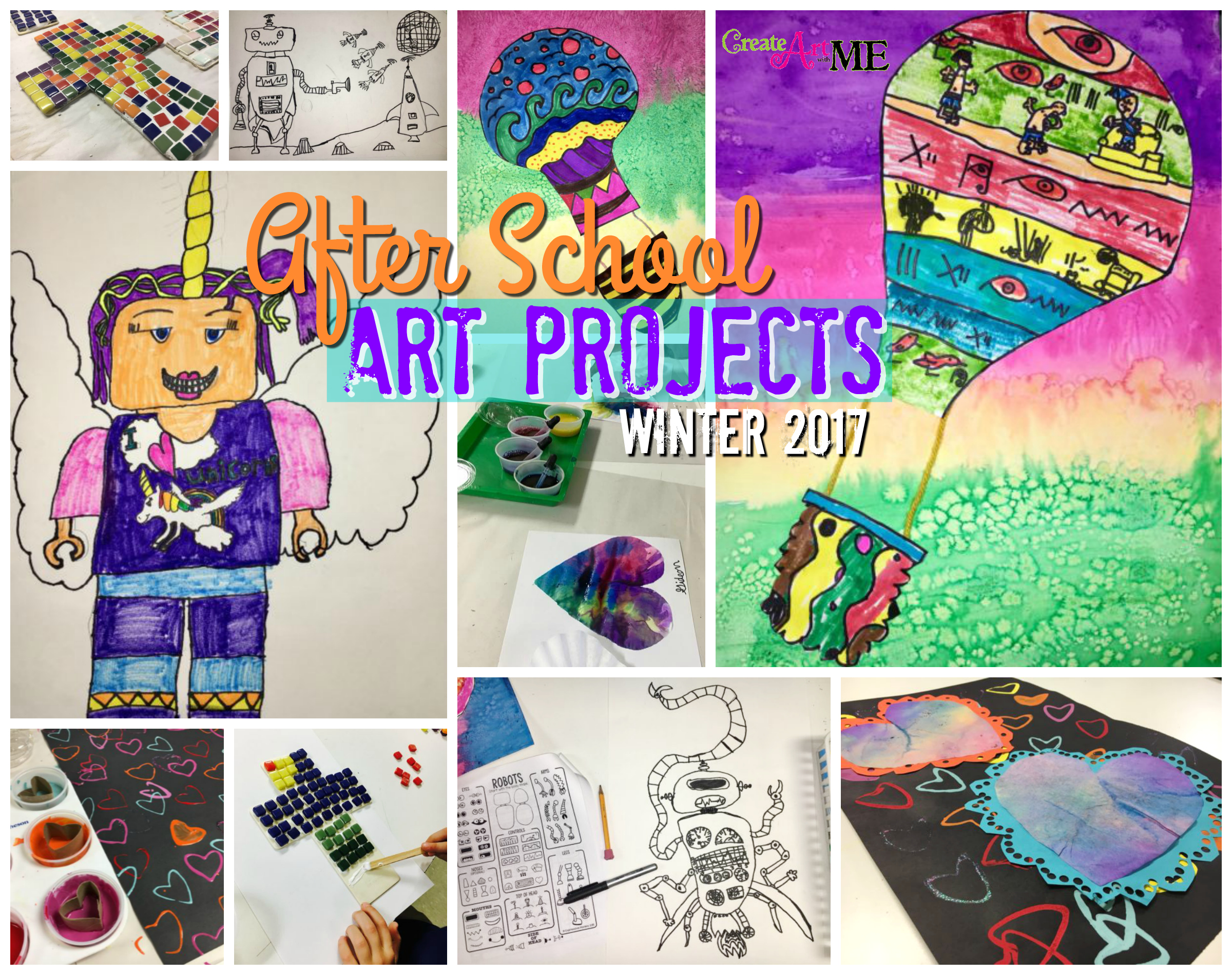 After School Art Projects Winter Spring