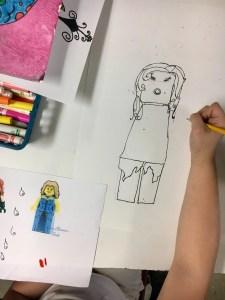 Lego mini-figure drawing