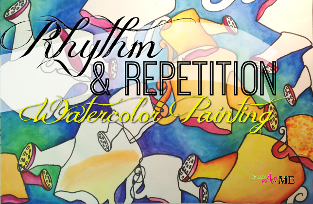 Rhythm and Repetition Painting Art Lesson