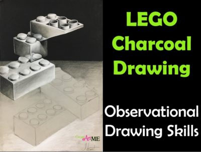 Lego Charcoal Drawing HS Art Lesson