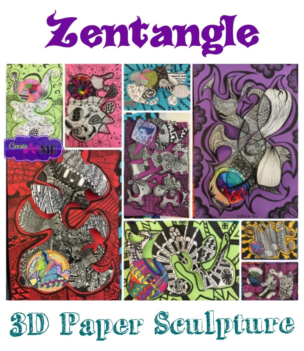 Rhythm and Emphasis - Zentangle 3D Paper Sculpture