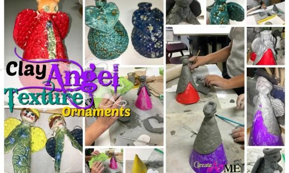 Clay angel slab texture Ornament