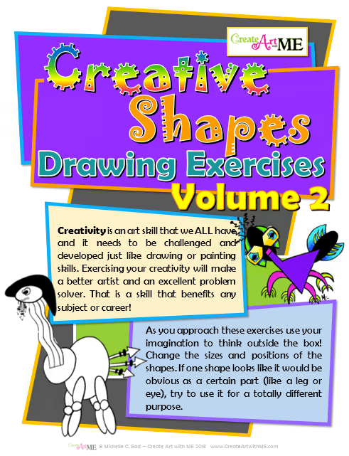 Creative Shapes Drawing Exercises Volume 2