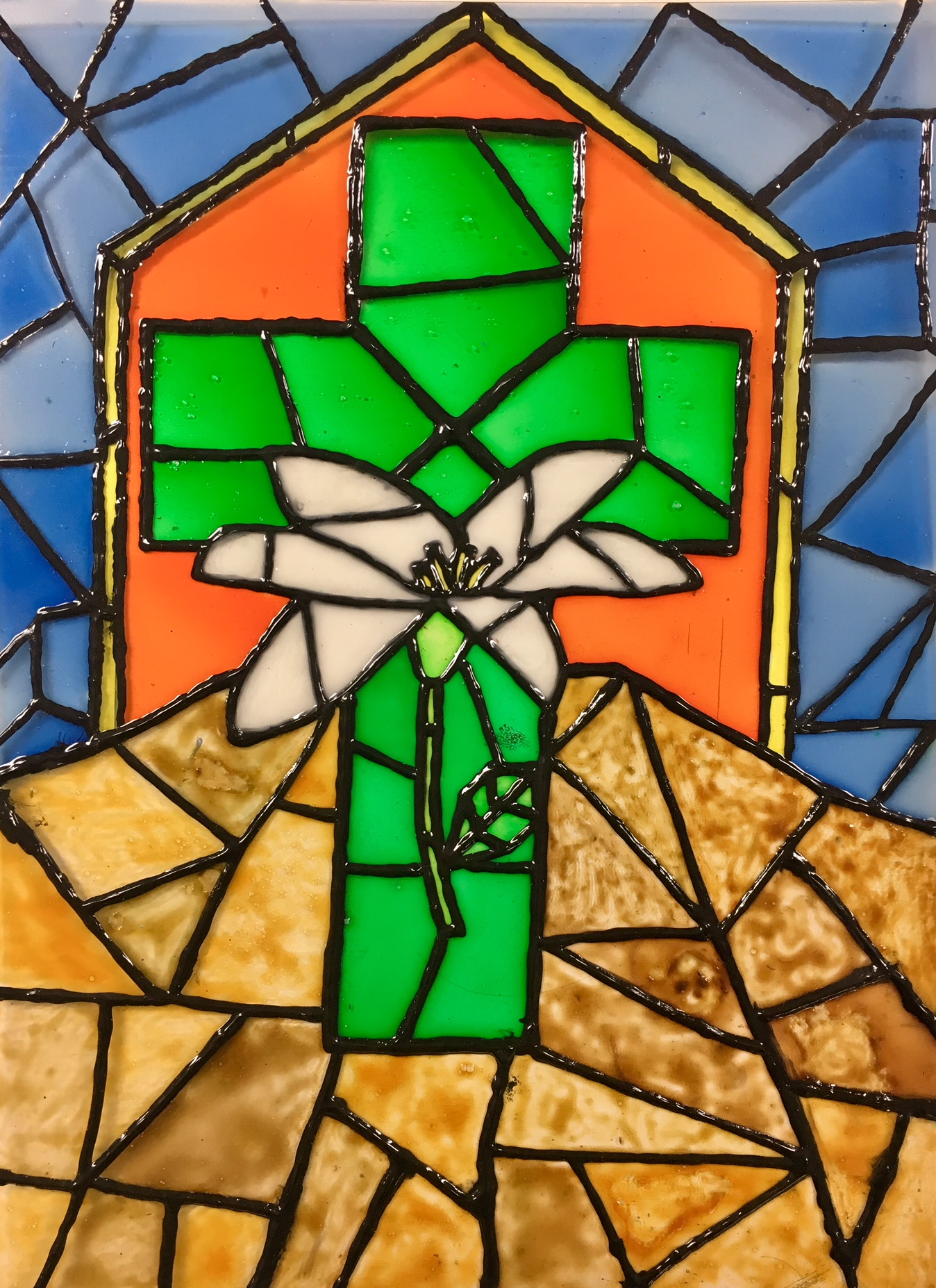 Faux Stained Glass Window with Biblical Theme - Create Art ...