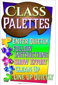 Art Classroom Management Palette System Poster