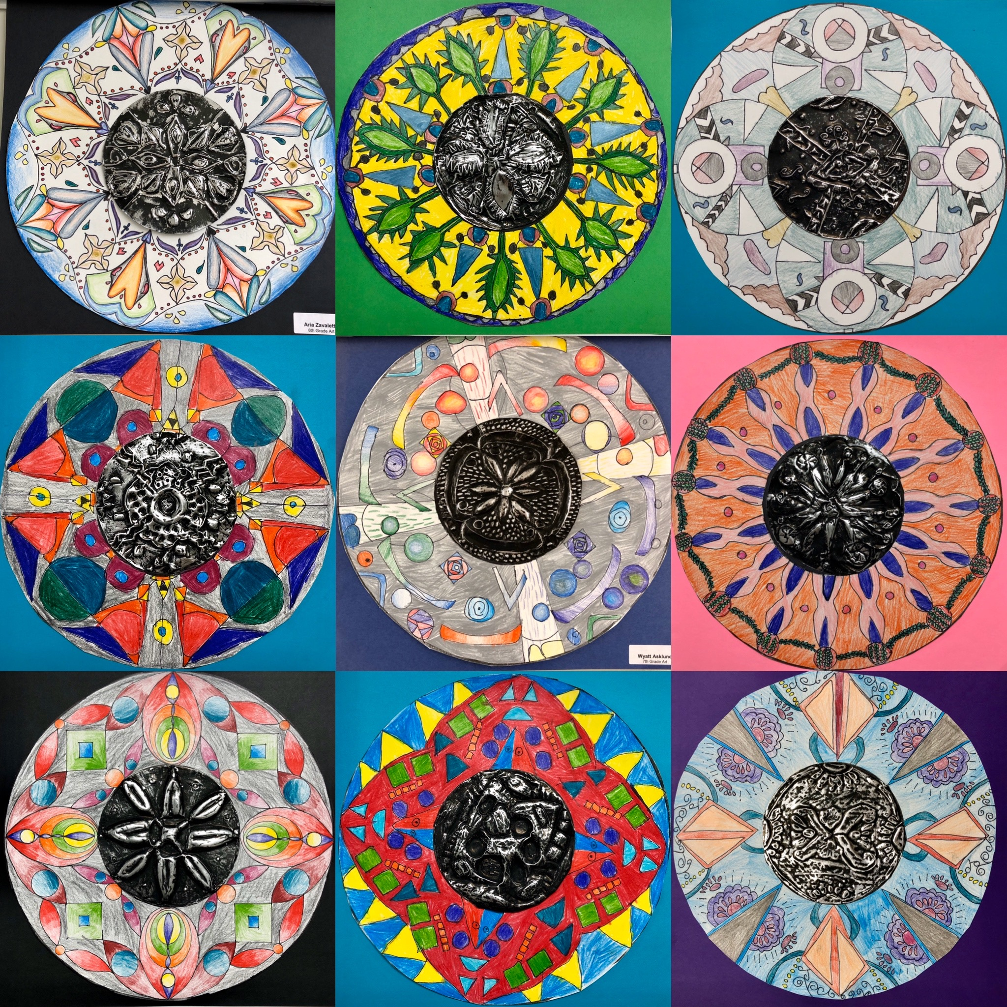 Radial Balance With Talavera Pottery Repousse And Drawing Project Create Art With Me