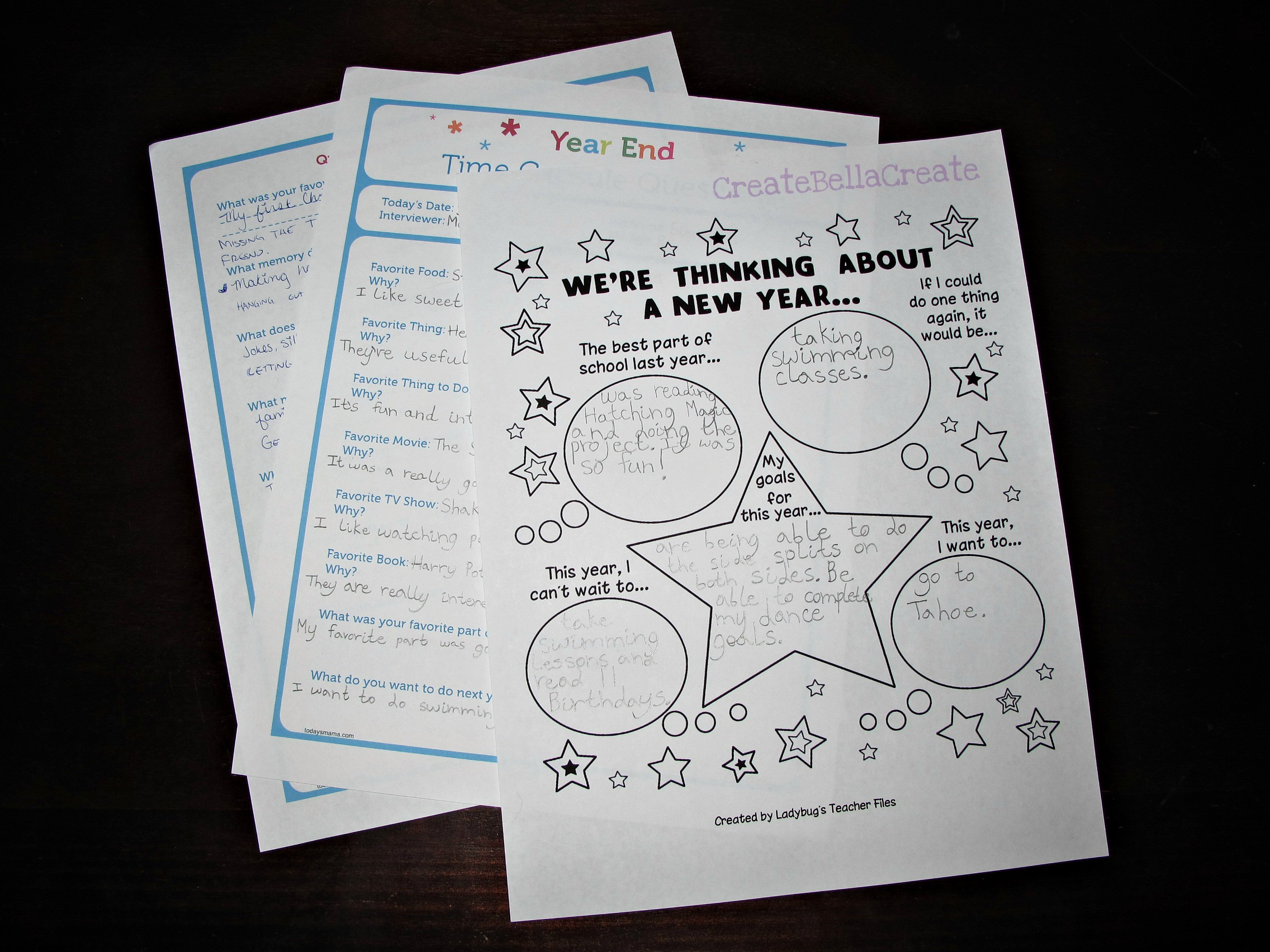 Createbellacreate New Year S Worksheets For Kids Free