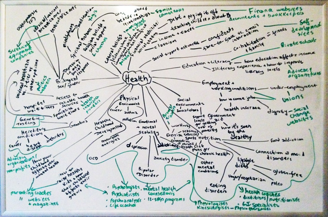 Niche Diversification Mind Map - Health copy