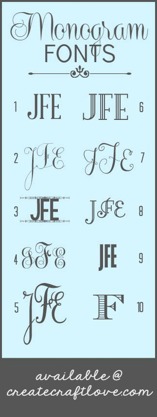 Best Font For Monogram : monogram, Monogram, Fonts