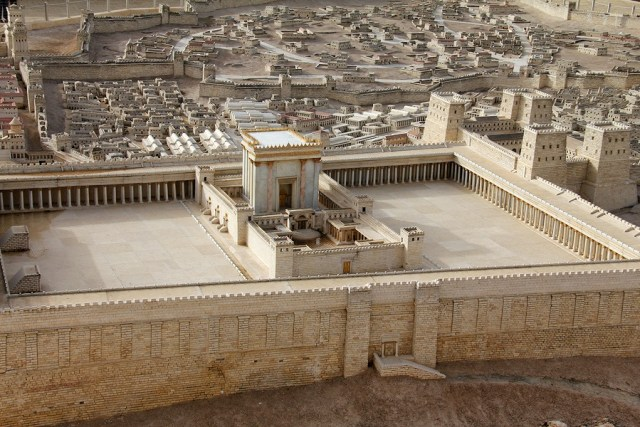 Model of the second temple in ancient Jerusalem. Among the many functions of the temple would be healing services.