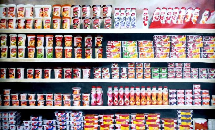 """Globalisation"" - original painting, acrylic on canvas 200x155cm."