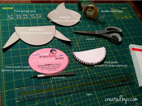Shark Invitation Tutorial Created By V