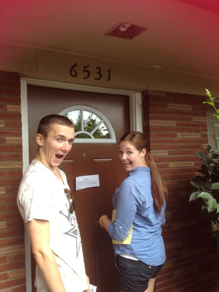 Tim and I move into our first apartment!