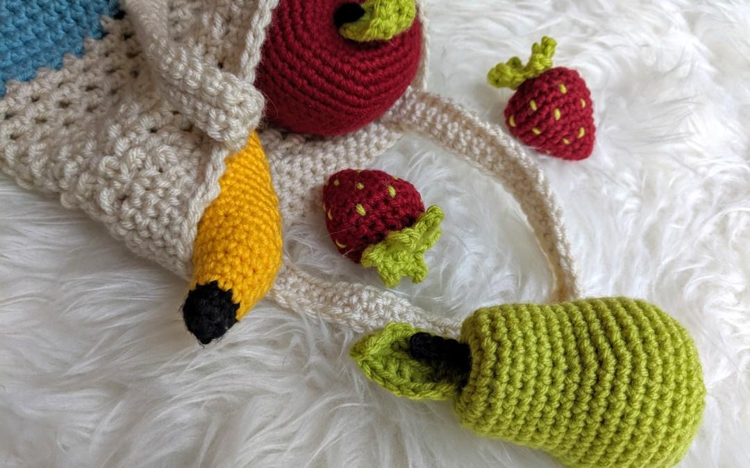 Huggable Fruits for Your Mini Market Bag! (Apple, Pear, Orange)