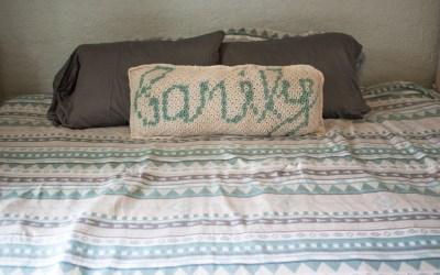 The Family Mini C2C Throw Pillow (Summer Blog Hop)