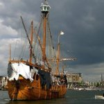 The Rime of the Ancient Mariner ghost ship