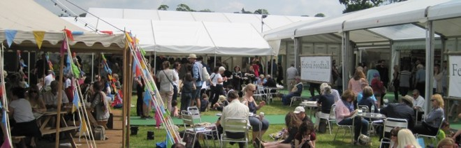 people everywhere at hay festival