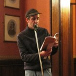 Mark Curtis reading at the Square Writers Open Mic Night