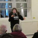 Ellie Powell took part in the open mic