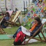 resting at hay festival