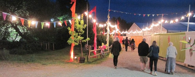 hay festival lights