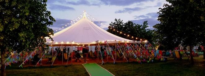 hay festival evening
