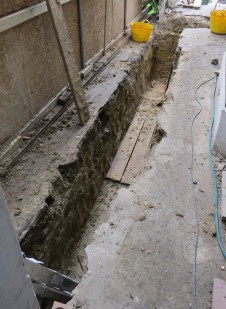 kitchen extension footings approved