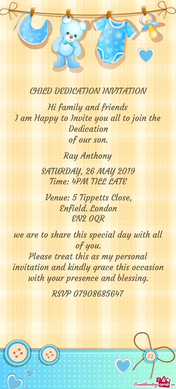 Child Dedication Invitation Free Cards
