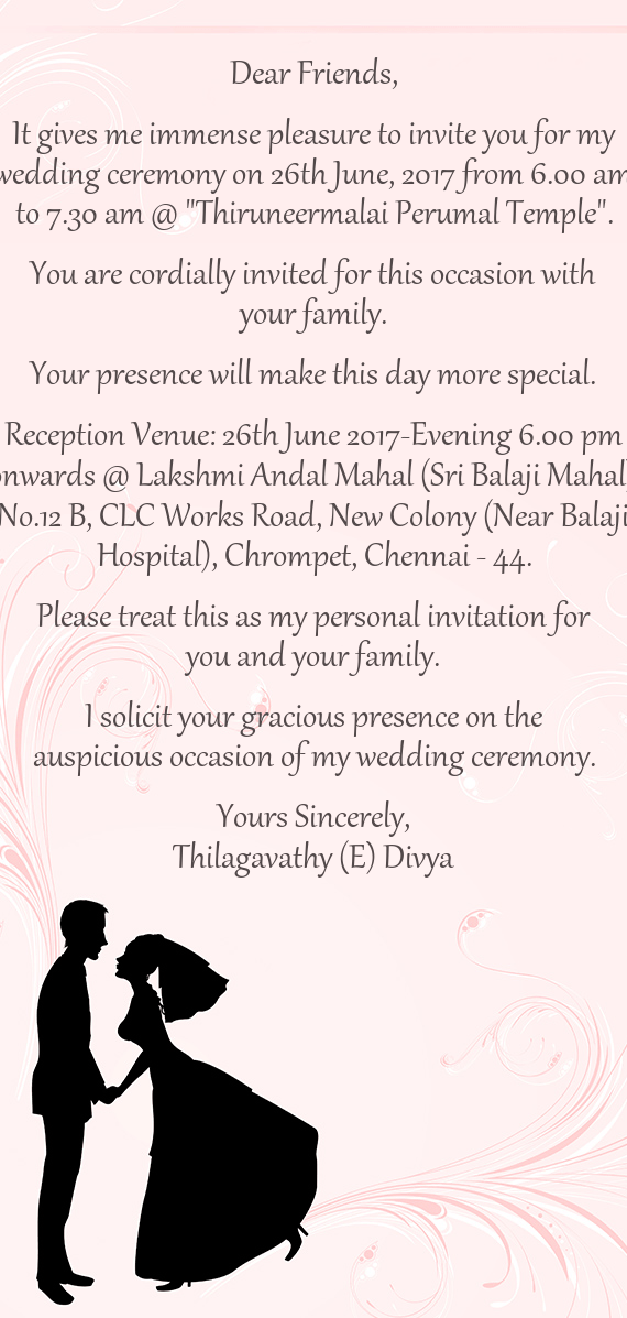 Personal Invitation Cards