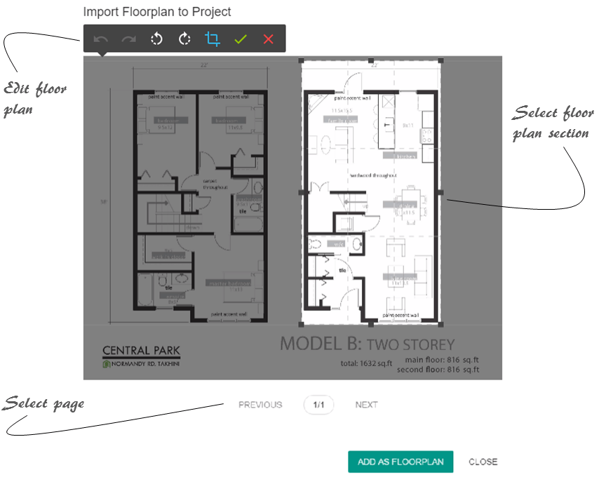 How to add a floor plan to your Holo